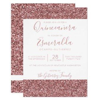 Girly Rose Gold Pink Glitter Sparkle