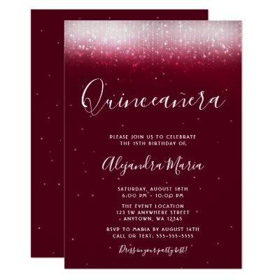 Glam Burgundy Quinceañera