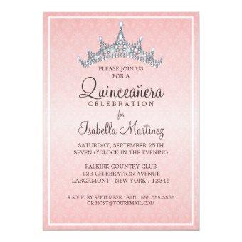 Glam Tiara Quinceanera Celebration Invitations