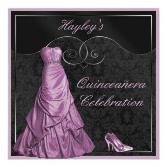 Glamorous Purple Ball Gown Black