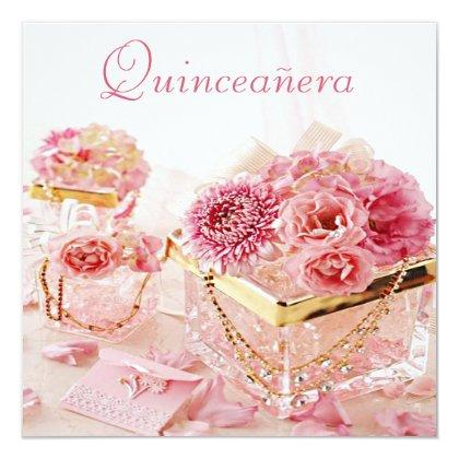 Glamour Jewels, Pink Flowers & Boxes