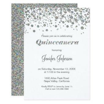 Glitter silver confetti
