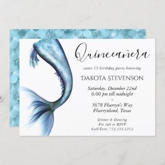 Glitzy Blue Mermaid