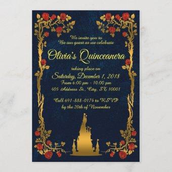 Gold and Navy Quinceañera