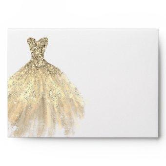 Gold Diamond Dress Envelope