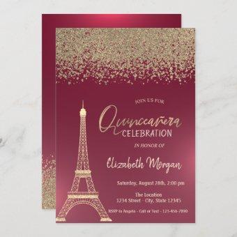 Gold Diamonds,Eiffel Tower Red