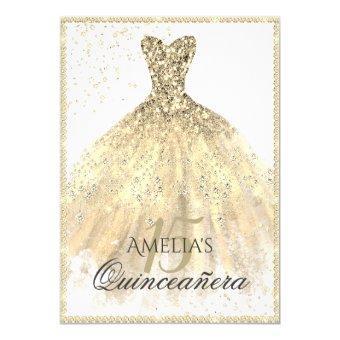 Gold Dress Sparkle 15th