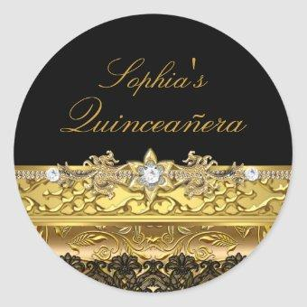 Gold Floral & Lace Sticker