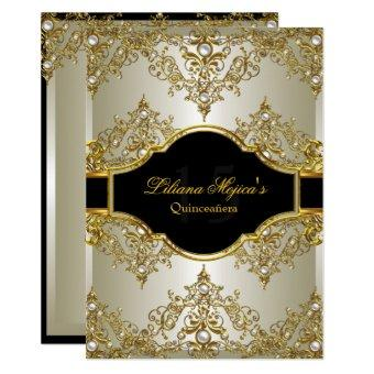 Gold Pearl Vintage Glamour Invite 2