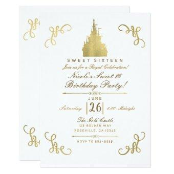 Gold Princess Castle Storybook Sweet 16 Party