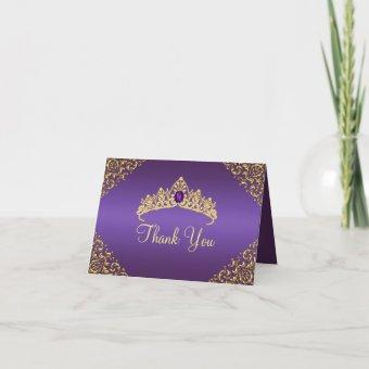 Gold & Purple Gem Tiara Thank You