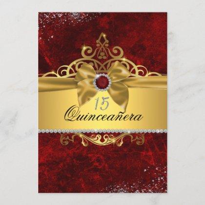 Gold Ruby Red Invite