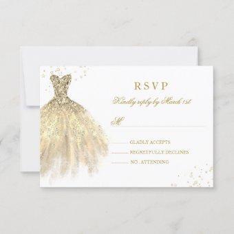 Gold Sparkle Dress RSVP