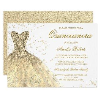Golden Sparkle Glitter Dress Party