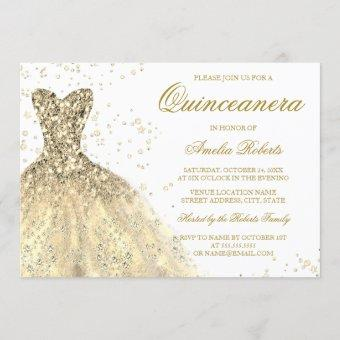 Golden Sparkle Glitter Dress Party