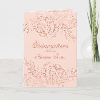 Graceful Rose Gold & Blush Pink Floral