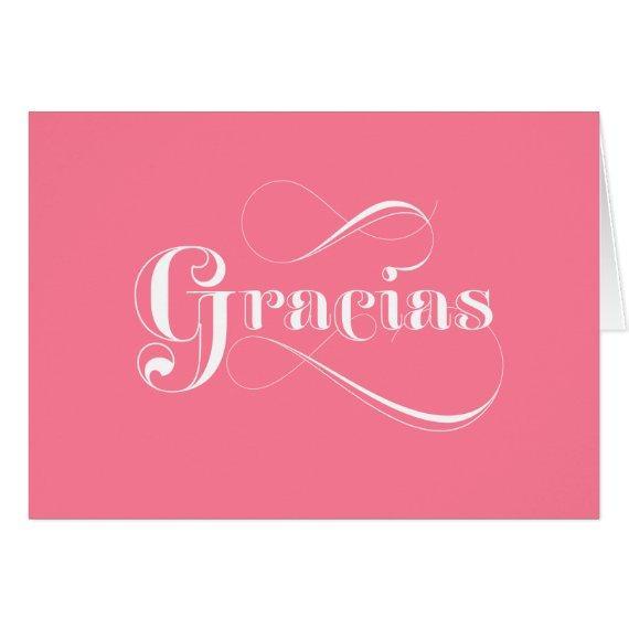 Gracias Pink Spanish thank you