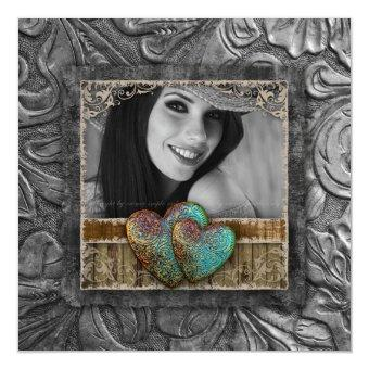 Graduation Grad Western Leather Cool Photo Hearts