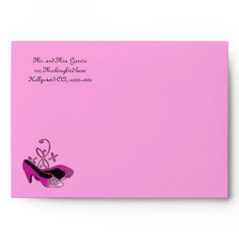Hot Pink Heels Envelope