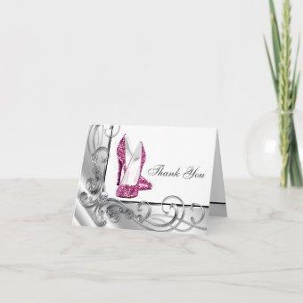 Hot Pink High Heel Shoe Thank You