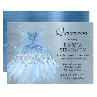 Ice Blue Iridescent Pixie Wing Gown