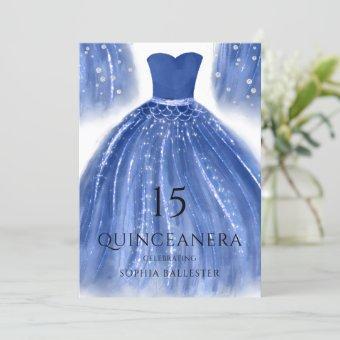 Indigo Navy Blue Mermaid Dress