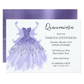 Lavender Purple Pixie Wing Gown