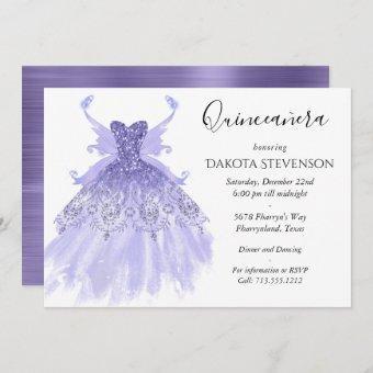 Lavender Purple Pixie Wing Gown