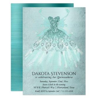 Luxe Fairy Wing Gown | Mint Green Shimmer Party