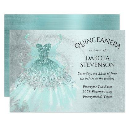 Luxe Iridescent Turquoise Fairy Gown
