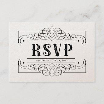 Luxury Paper South Western RSVP Card - Black White