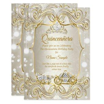 Magical carriage gold Beige Silver