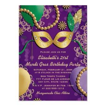 Mardi Gras Mask Birthday