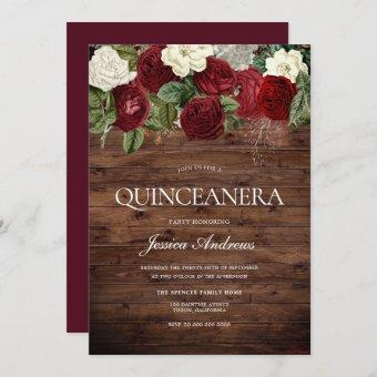 Marsala Burgundy Rustic Red Rose Party