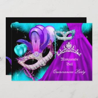 Masquerade 15 Party Teal Purple