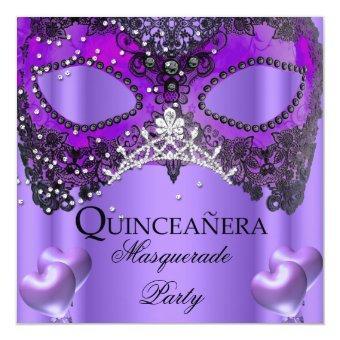 Masquerade 15 Purple Mask Birthday