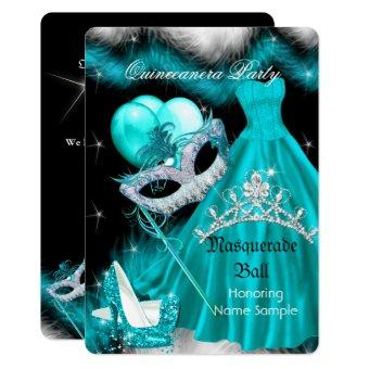 Masquerade Birthday Party Teal 3a