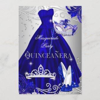 Masquerade Blue Silver Dress Heels