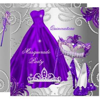 Masquerade Party Purple Silver Dress