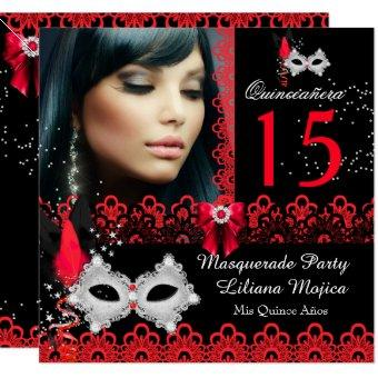 Masquerade Party Red Lace