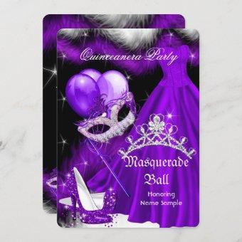 Masquerade Purple Black Feather 2a