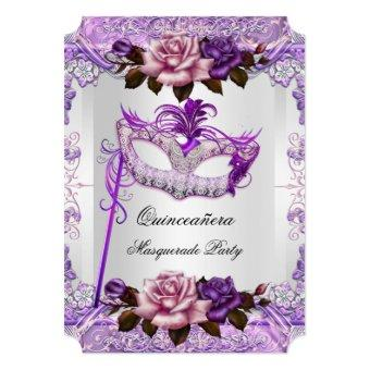 Masquerade Silver Pink Purple Rose