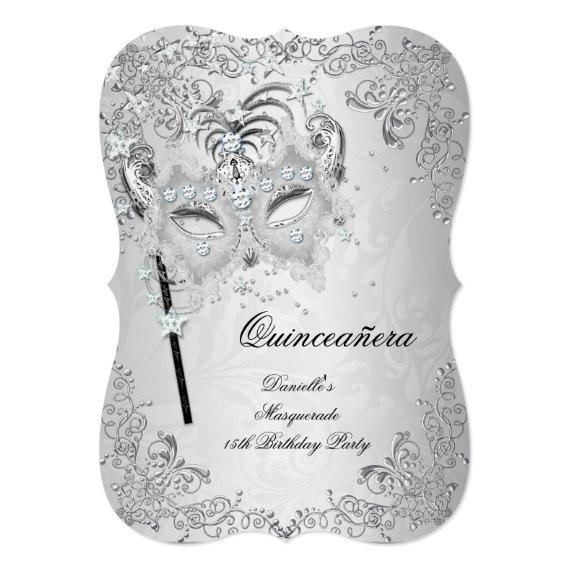 Masquerade Silver 15th Birthday