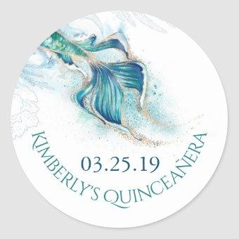 Mermaid Tail Glitters - Under The Sea Classic Round Sticker