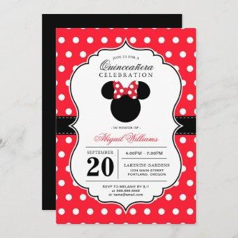 Minnie Mouse | Red & White Polka Dot Quinceañera