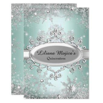 Mint Green Crystal Snowflake Princess