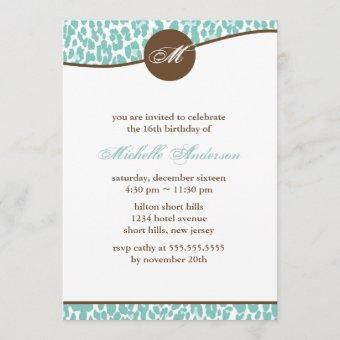 Mint Leopard Print Birthday
