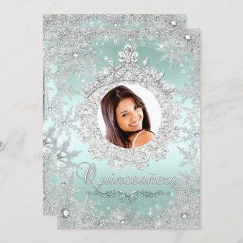 Mint Silver Tiara Snowflake Sparkle