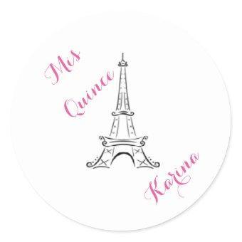 Mis Quince - Paris - stickers - Customize