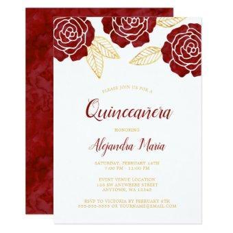 Modern Burgundy Gold Roses
